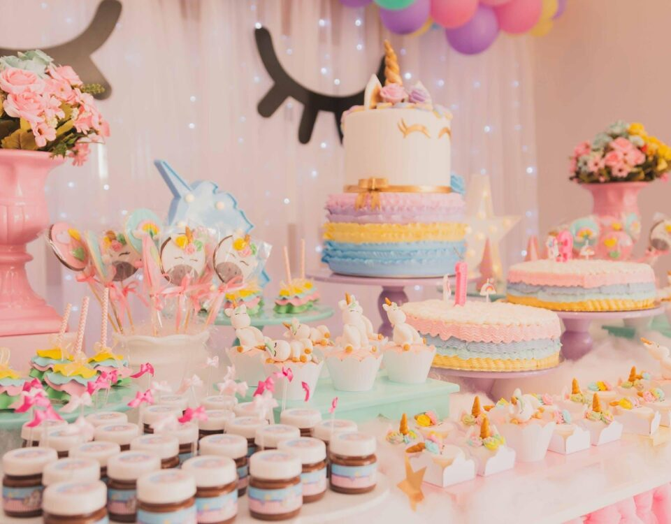 Unicorn themed party food